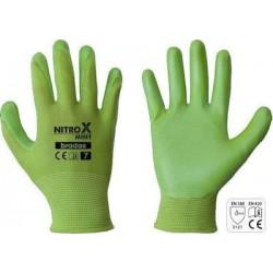 Γάντια εργασίας nitrox mint Bradas