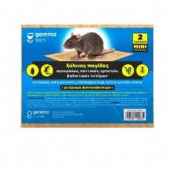 Ξύλινη Παγίδα Με Κόλλα Για Ποντίκια Gemma