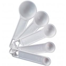 Κουταλάκια μεζούρες πλαστικά σετ 4τεμ.
