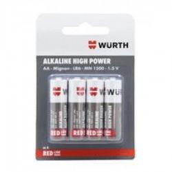 Μπαταρίες ΑΑ LR6 alkaline high power WURTH