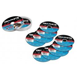 Σετ 10 δίσκοι κοπής μετάλλου Graphite 55H576