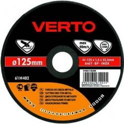 Δίσκος κοπής METAL / INOX 125*1.0*22.2mm 61H405 VERTO
