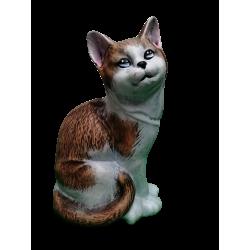 Κεραμική γάτα που κάθεται