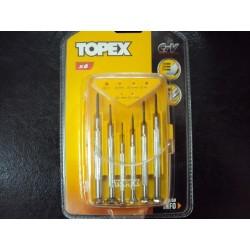 Κατσαβίδια ακριβείας TOPEX, 6τεμάχια