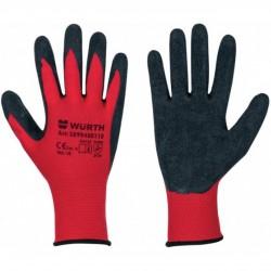 Γάντια εργασίας WURTH MULTIFIT λάτεξ κόκκινο 9500002170